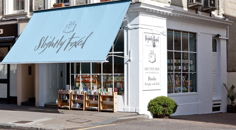 Slightly Foxed bookstore on Gloucester Road