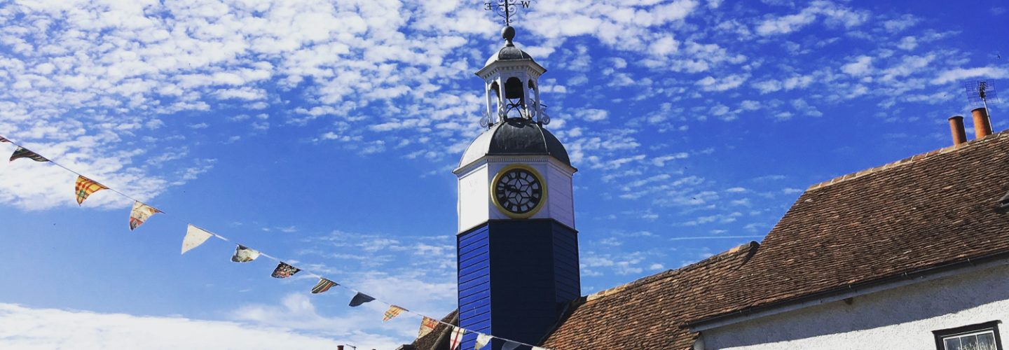 coggeshall clock in summer